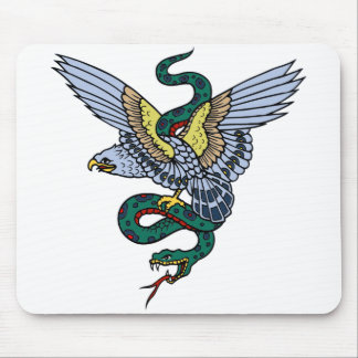 Snake and Eagle Mouse Pad