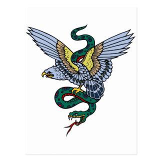 Snake and Eagle Postcard