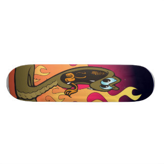Snake and Flames Skateboard