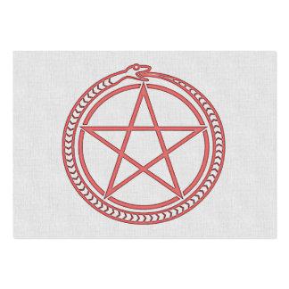 Snake and Pentagram Large Business Cards (Pack Of 100)