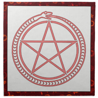 Snake and Pentagram Cloth Napkin