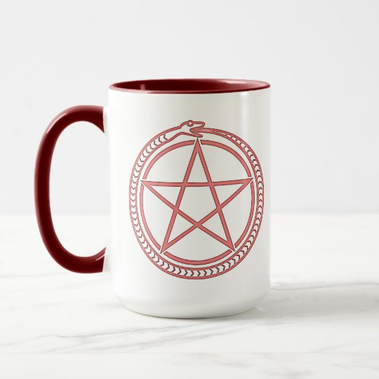 Snake and Pentagram Mug