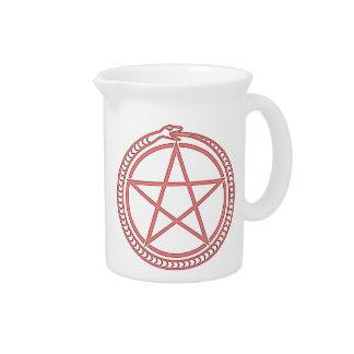 Snake and Pentagram Beverage Pitcher
