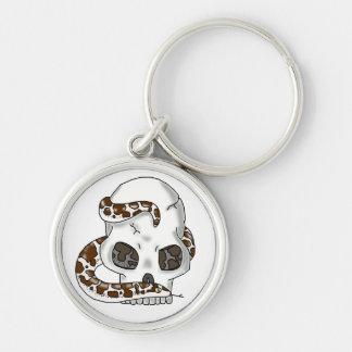 snake and skull (anery sand boa) keychain