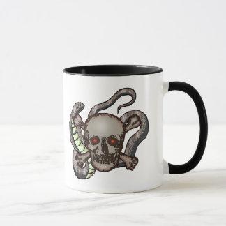 Snake and Skull Biker T shirts Gifts Mug
