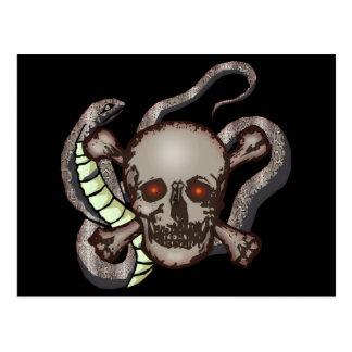 Snake and Skull Biker T shirts Gifts Postcard