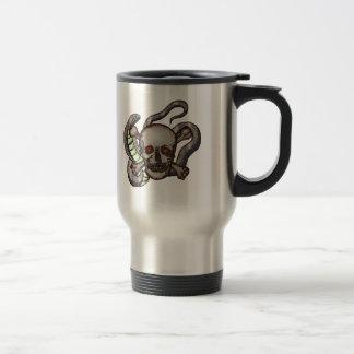 Snake and Skull Biker T shirts Gifts Travel Mug