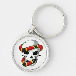 snake and skull (coral snake) keychain