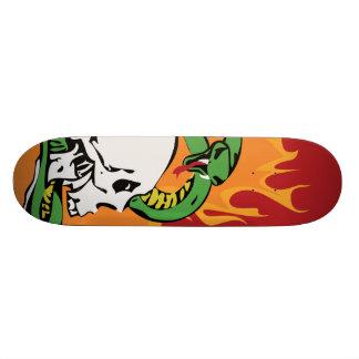 Snake and Skull Graphic Skateboard