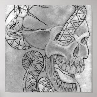 snake and skull poster