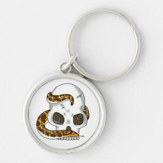 snake and skull (sand boa) keychain
