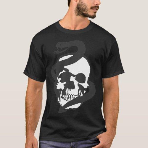 Snake And Skull T_Shirt