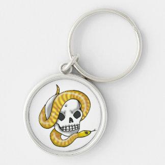 snake and skull (woma python) keychain