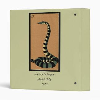 Snake - Antiquarian, Colorful Book Illustration Binder