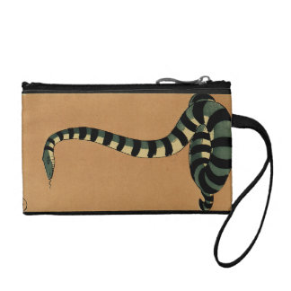 Snake - Antiquarian, Colorful Book Illustration Coin Purse