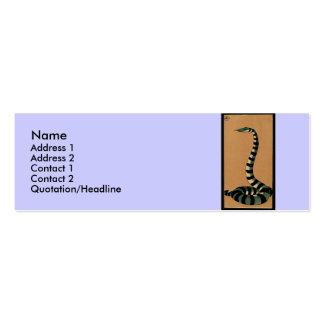 Snake - Antiquarian, Colorful Book Illustration Mini Business Card