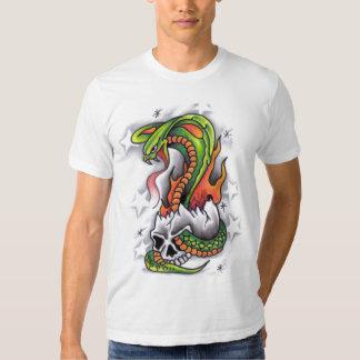 Snake-around-skull-tattoo-design T-shirt