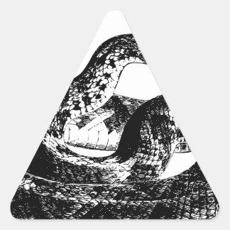 Snake Attack Triangle Sticker