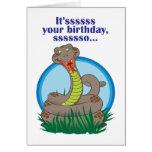 Snake Birthday Card