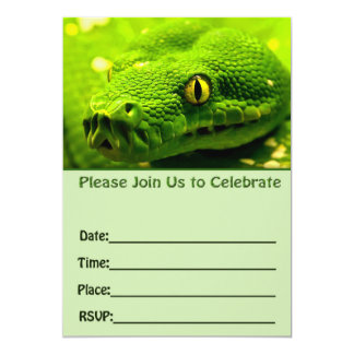Snake birthday invitation fill in blank