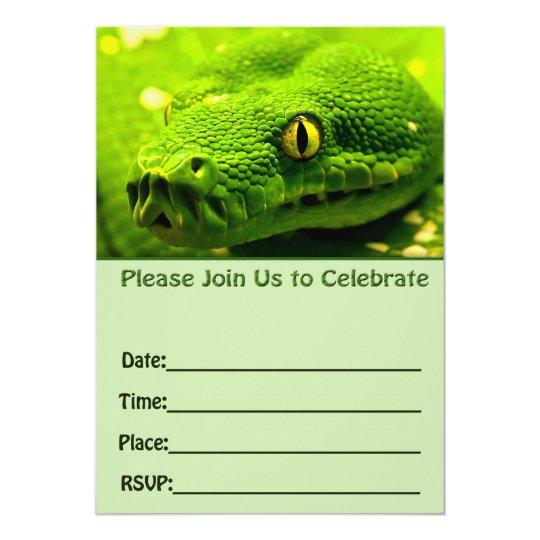 Snake birthday invitation fill in blank zazzle snake birthday invitation fill in blank filmwisefo