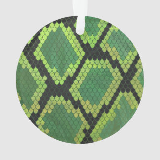 Snake Black and Green Print