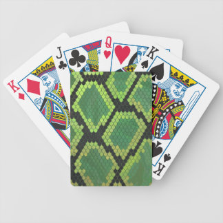 Snake Black and Green Print Bicycle Playing Cards