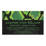Snake Black and Green Print Double-Sided Standard Business Cards (Pack Of 100)