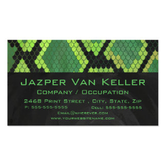 Snake Black and Green Print Business Card