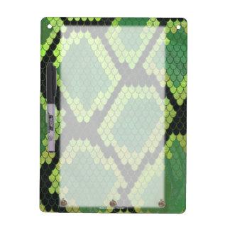Snake Black and Green Print Dry-Erase Board