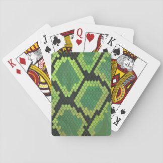 Snake Black and Green Print Playing Cards