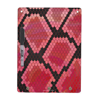 Snake Black and Red Print Dry Erase Board