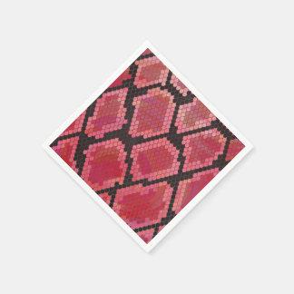Snake Black and Red Print Paper Napkin