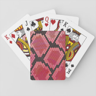 Snake Black and Red Print Playing Cards