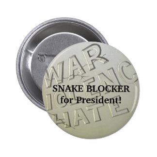 Snake Blocker for President! Button