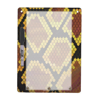 Snake Brown and Gold Print Dry Erase Board