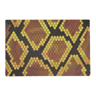 Snake Brown and Gold Print Placemat