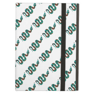 Snake Brown and Teal Print Silhouette iPad Air Cover