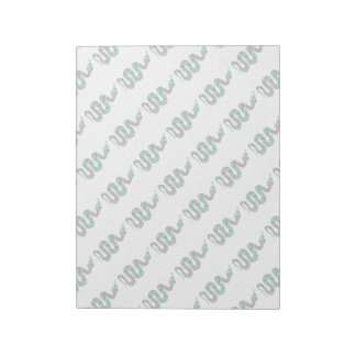 Snake Brown and Teal Print Silhouette Notepad