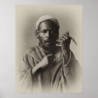 Snake charmer in Tangier, Morocco, 1913 Poster
