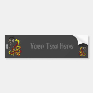 Snake Charmer  (The Serpent & The Robot) Bumper Sticker