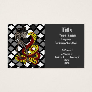 Snake Charmer  (The Serpent & The Robot) Business Card