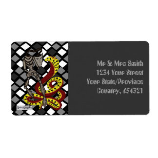 Snake Charmer  (The Serpent & The Robot) Custom Shipping Labels