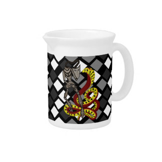Snake Charmer  (The Serpent & The Robot) Beverage Pitchers