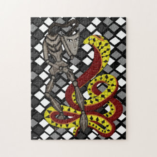Snake Charmer The Serpent The Robot Jigsaw Puzzle