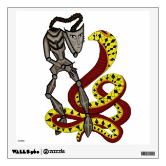 Snake Charmer  (The Serpent & The Robot) Wall Decal