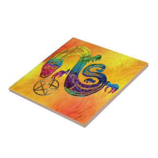 Snake Charming Witch Tile