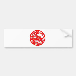 Snake | Chinese Zodiac Folk Art Bumper Sticker