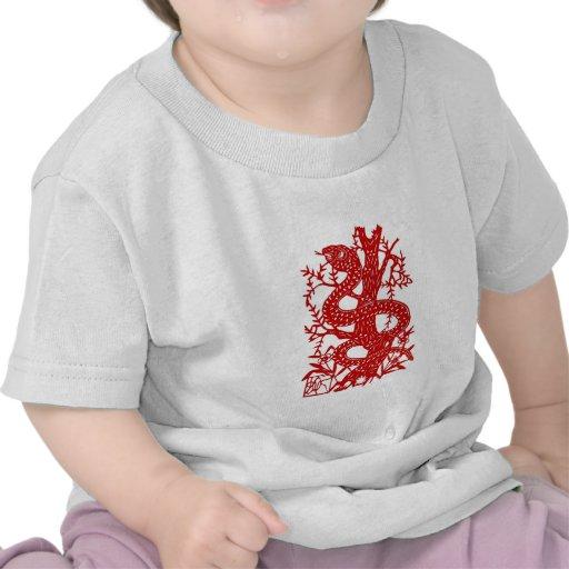 Snake | Chinese Zodiac Folk Art Tee Shirts