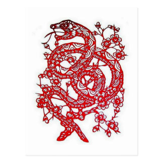 Snake-Chinese Zodiac Postcard